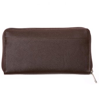 Hickok 32856 Genuine Leather Long Wallet with Zip Around (Brown) - picture 2