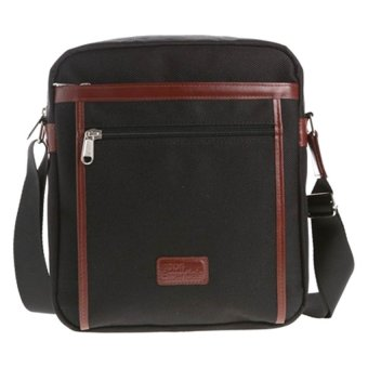 Hickok Essentials Shoulder Bag with Zippered Front Pocket (Black)