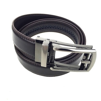 High Quality COMFORT CLICK Leather Belt For Men Brown - intl