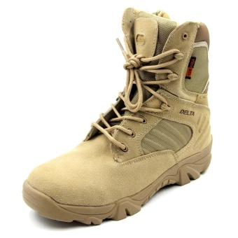 Hiking Climbing Shoes DELTA Professional Waterproof Tactical Bootsfor Outdoor Mountain Climbing(Khaki) - intl Price Philippines