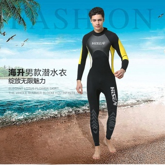 Hisea 3MM Neoprene Wetsuit One-piece Diving Suit Warm Airtight Jellyfish Snorkeling Surfing Surf Scuba Diving Suit - intl