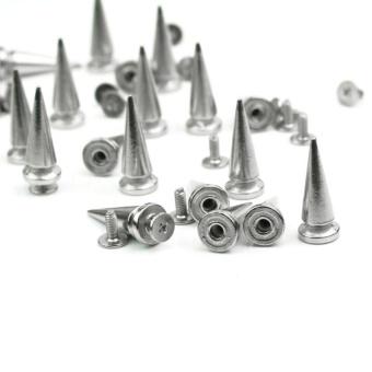 HLY 20Pcs Metal Cone Spikes Bullet Studs Rivet Spots Leathercraft Beltbag Screwback - intl - 3