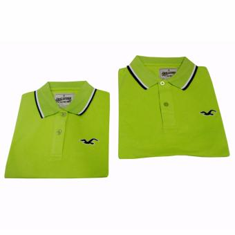 Hollister Couple Polo Shirt(Lime Green) - 4
