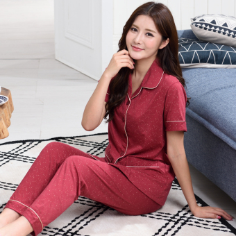 Home cotton Female Summer tracksuit pajamas (G4024 women's)