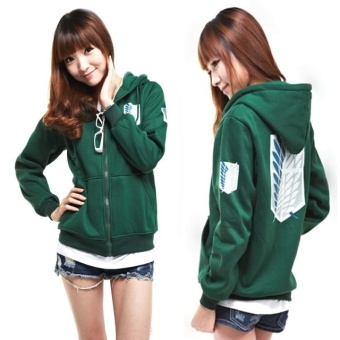 Hoodie Sweater Coat Attack on Titan Shingeki no Kyojin Scouting Legion - intl