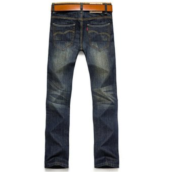 Hot Sale Jeans Men's Fashion Jeans Brand Men's Pants(Blue) - 3