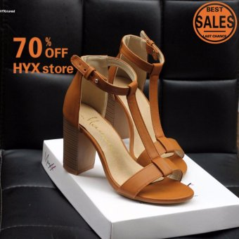 HOT SALE!!!Women Sexy Roman Style Peep Toe High Heel T-strap Sandals(Brown) - intl Price Philippines