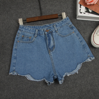Hot selling summer high-waisted LOOESN models cowboy shorts