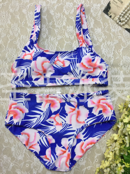 Hot Spring European and American New style printed shoulder bikini