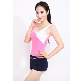 Hot Spring milk silk Women's split swimsuit sports swimsuit