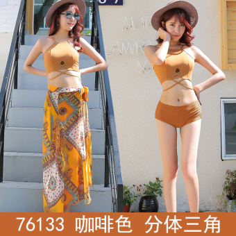 Hot Spring sexy women Girl Students split swimsuit swimming clothes