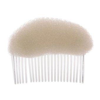 Hot !Women Fashion Hair Styling Clip Stick Bun Maker Braid Tool Hair Accessories M White