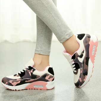 Hot Women Lady Girl Spring Autumn Camouflage Patterns JoggingSports Running Casual Fitness Sneakers Shoes Chinese Size 35-39(Pink) HZ252 - 5