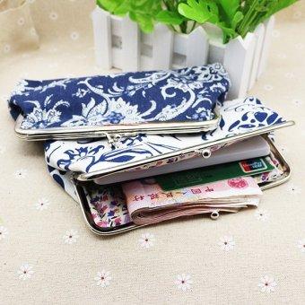 HOT Womens Wallet Card Holder Coin Purse Clutch Bag Handbag-White -intl