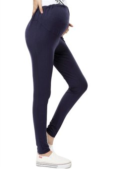 Hotyv Elastic Slim Maternity Pencil Pants HMPANTS005 Dark Blue