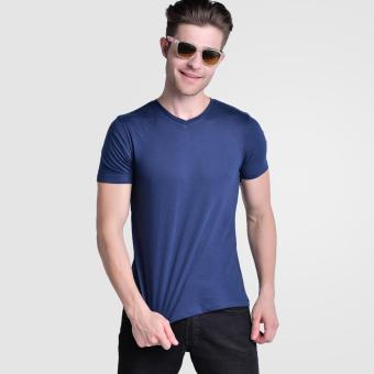 Huga Activewear Navy Blue V-Neck Tshirt