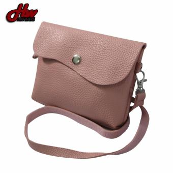 HW Mini Leather 2 Purpose Sling Bag (Peach)