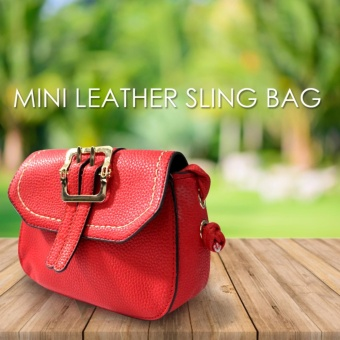 HW Mini Leather Sling Bag (Red)