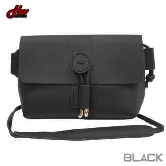 HW Mini Leather Tie Sling Bag (Black)