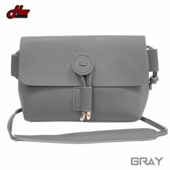 HW Mini Leather Tie Sling Bag (Gray)