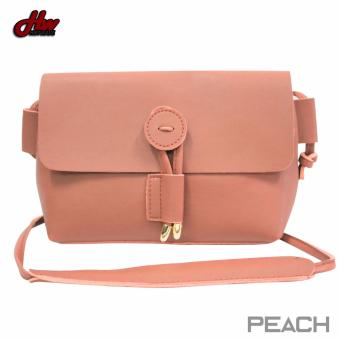 HW Mini Leather Tie Sling Bag (Peach)