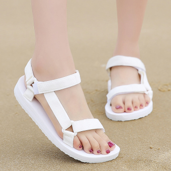 I comfortable summer New style flat heel flat sandals (White)