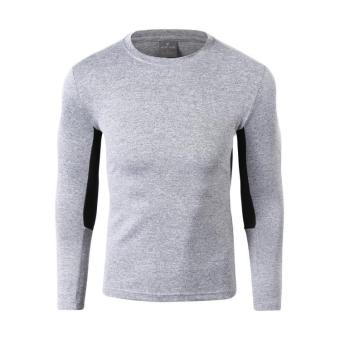 I outdoor long-sleeved quick-drying T-shirt (Light gray color)