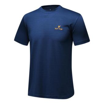 I outdoor New style short sleeved quick-drying T-shirt (Dark blue color)