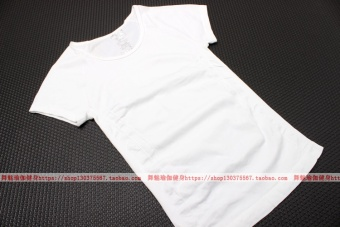 I stretch running training fitness clothes short sleeved I Top short sleeved Slim fit T-shirt (White) Price Philippines