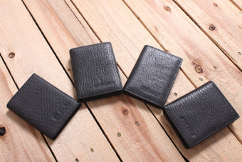 I4-b202 leather affordable and practical easy to use small card holder (I4-B202-1 # Black (style random))