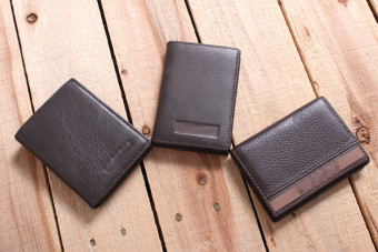 I4-b202 leather affordable and practical easy to use small card holder (I4-B202-2 # dark brown (style random))