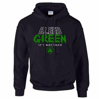 iGPrints Boston Celtics Inspired NBA Statement Shirt Bleed GreenHoodie Jacket (Black)