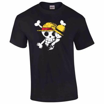 iGPrints One Piece Monkey D Luffy Disstressed Logo Design T-Shirt(Black)