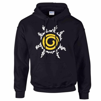 iGPrints RASENGAN Naruto Anime Classic Design Hoodie Jacket (Black)