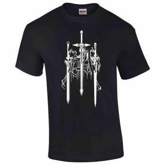 iGPrints Sword Art Online Anime Shadowed Design T-Shirt (Black)