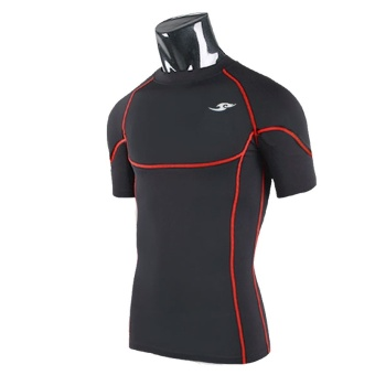 Harga New Men''''s Compression Under Base Layer Gear Short Sleeve Tights Wear Armour Shirt'' - Intl'