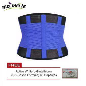 Hot Shapers Adjustable Waistband Hot Belt Power (blue) with FREE Active White Price Philippines