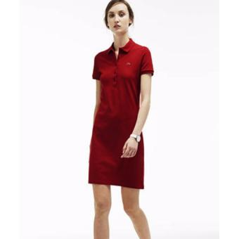 Harga LACOSTE DRESS FOR WOMEN (BURGUNDY)