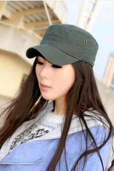 LALANG Hot Men's Hat Korean Flat Cap Outdoor Leisure Sports Hat Army green Price Philippines