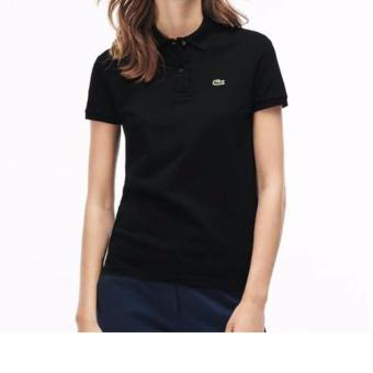 Harga LACOSTE CLASSIC POLO SHIRT FOR WOMEN (BLACK)