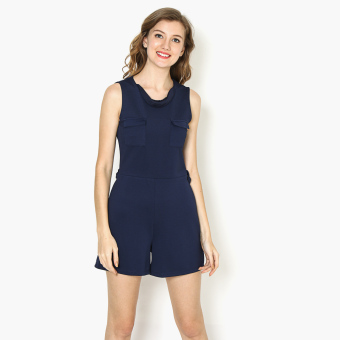 Harga GTW Fab Flap Pocket Sleeveless Romper (Navy Blue)