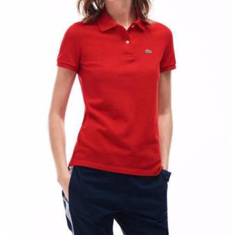 Harga LACOSTE CLASSIC POLO SHIRT FOR WOMEN (RED)