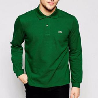 Harga LACOSTE CLASSIC LONGSLEEVES FOR MEN (EMERALD GREEN)