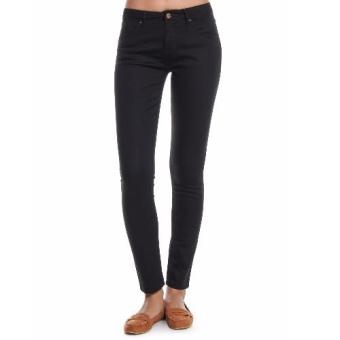 Harga Women Regular waist Tapered Leg Denim Pants (Black)