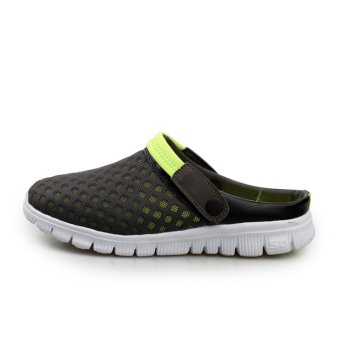 Men's slippers Male Sandals Crocs Beach Sandals Breathable Nest Men Shoes Hole Mesh sandals AIWOQI(GREEN) - intl Price Philippines