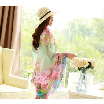Harga Candy Online Large Section Chiffon Summer Shawl Scarf Thin Section Sunscreen Scarf Air Conditioning Shawl Scarf #8