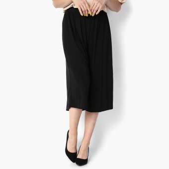Harga SM Woman Shirred Wide-leg Culottes (Black)