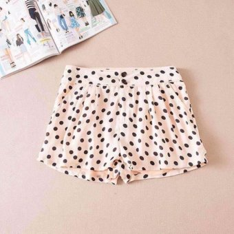 Harga Sports Candy Summer Cotton Waist Polka Dot Short (Cream) 32