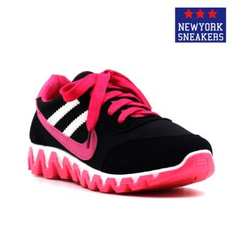 Harga New York Sneakers Alea Rubber Shoes(BLACK/PINK)