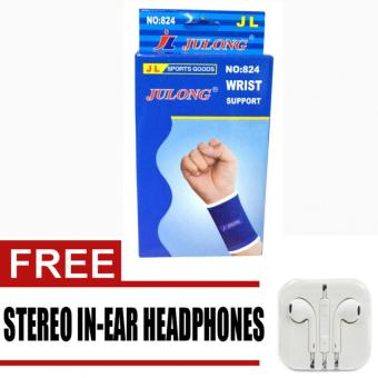 Harga Julong Fitness Gear Wrist Support No.824 with free Stereo In-Ear Heaphones